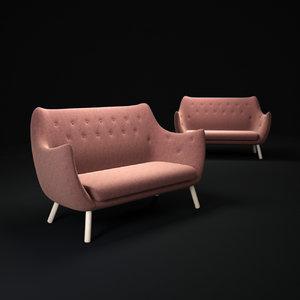 3d poet-sofa model