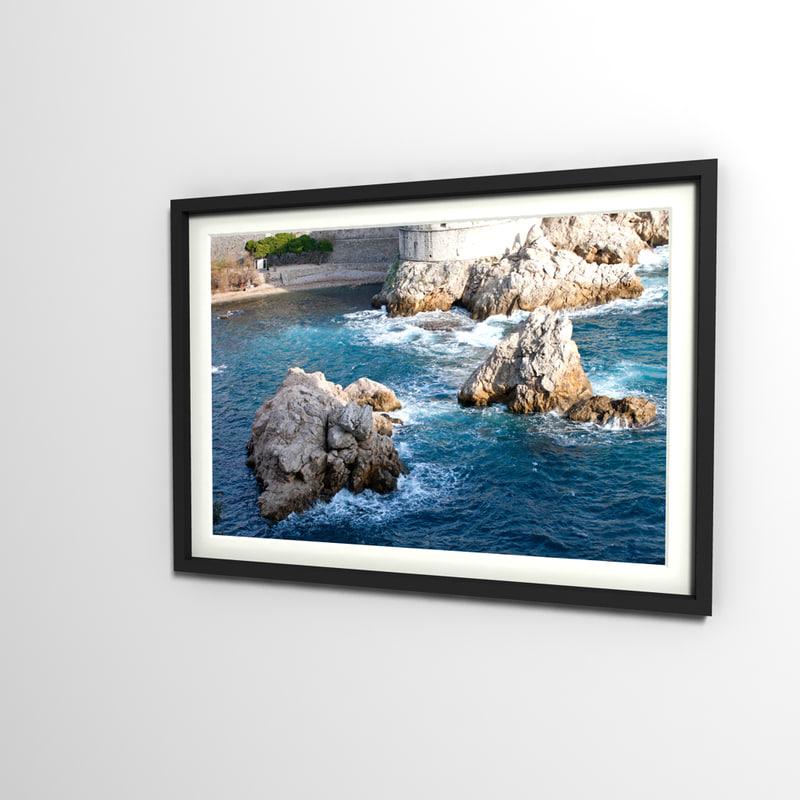 3d decorative photo frame model