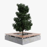 Square Tree Bench A