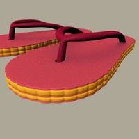 3d rubber slippers model