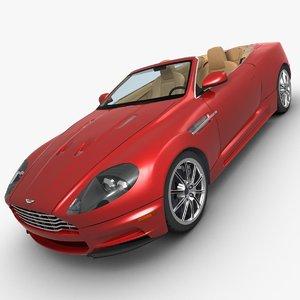 3d aston martin dbs volante model