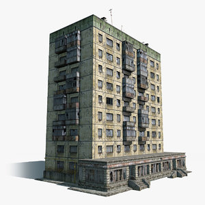 abandoned 9-storey russian house 3ds