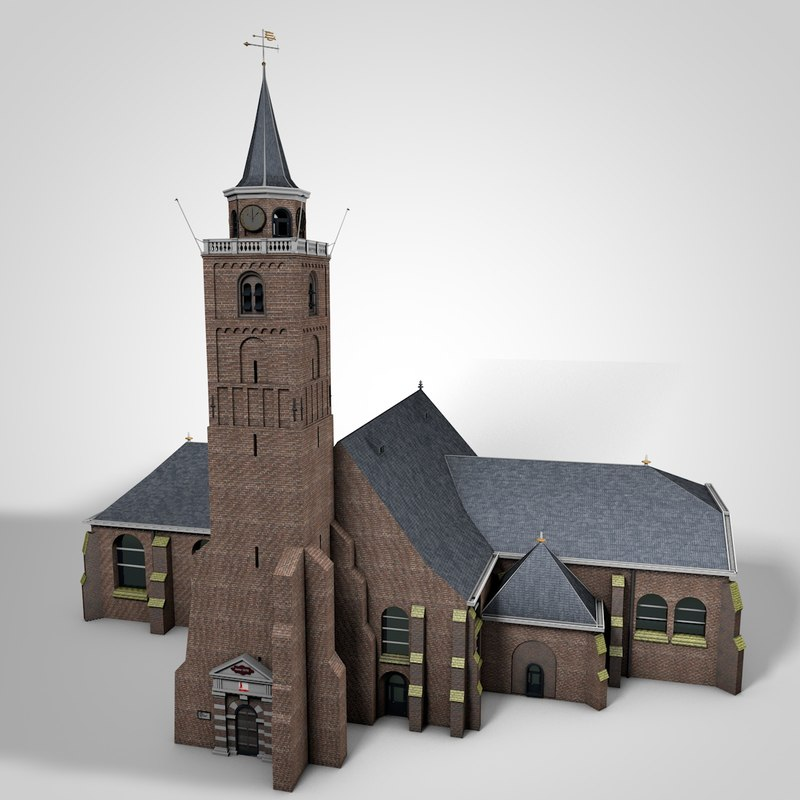 church rijnsburg c4d