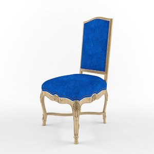 hooved french chair 3d model