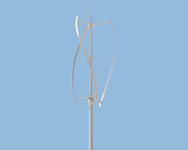 3d model of vertical axis wind turbine