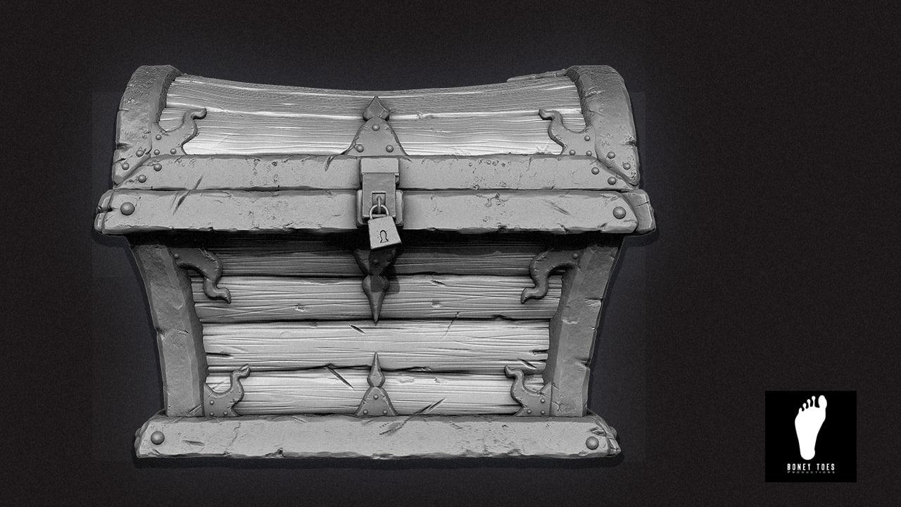 3d model zbrush treasure chest