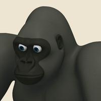 3d model gorilla