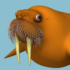 3d model walrus