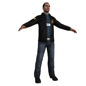 3d model fbi agent