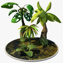 cartoon plant 3D models