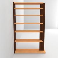 3d max bookshelf