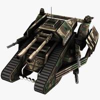 3d futuristic tank model