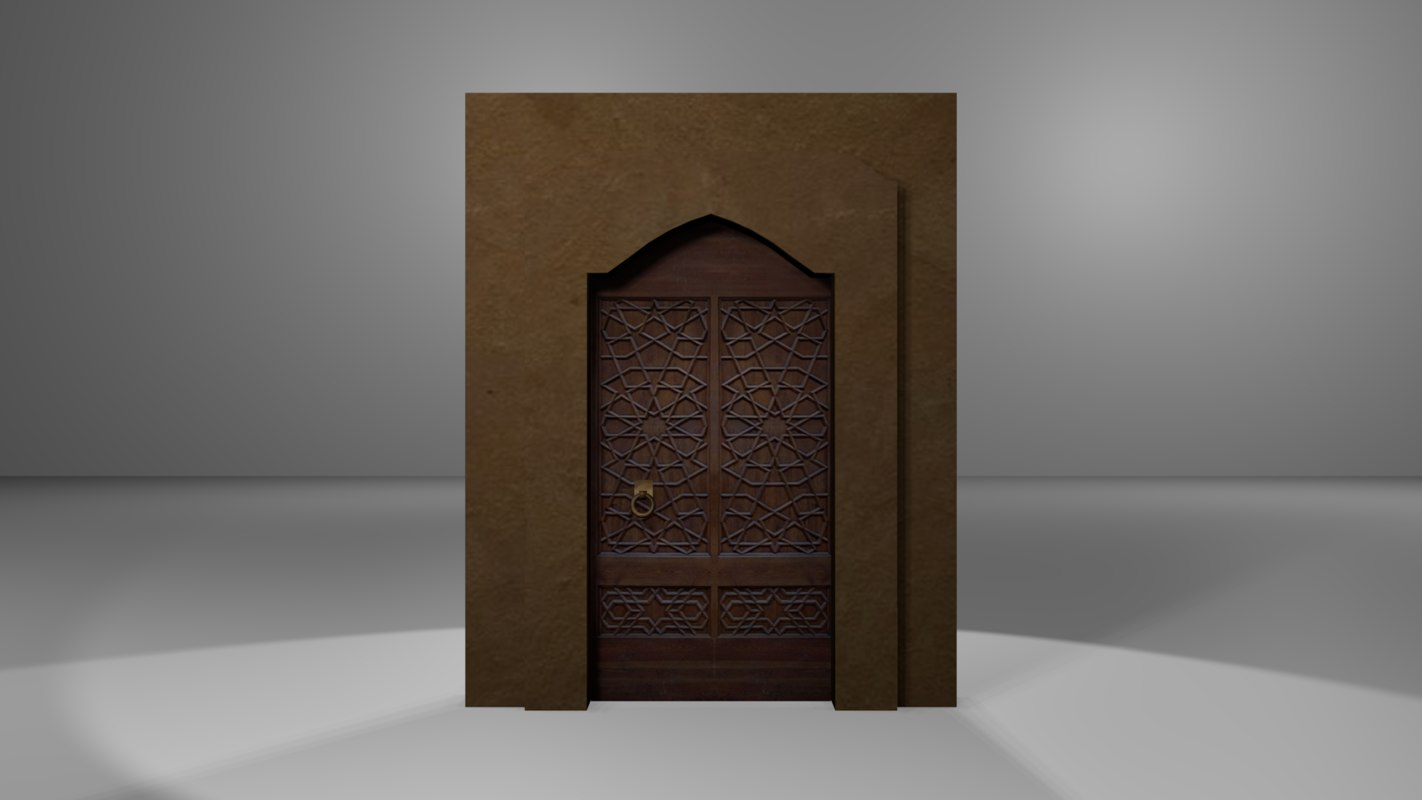 arab persian door arch 3ds