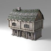 Old Town house Low Poly