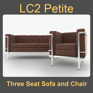 3d model sofa lc2 chair