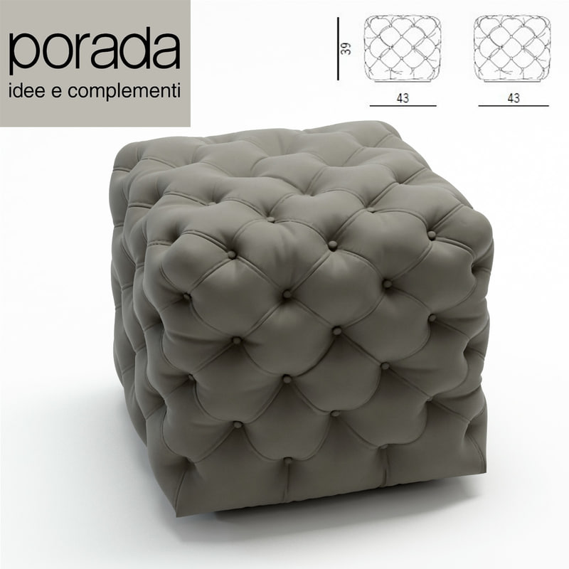 3d model of porada pouf