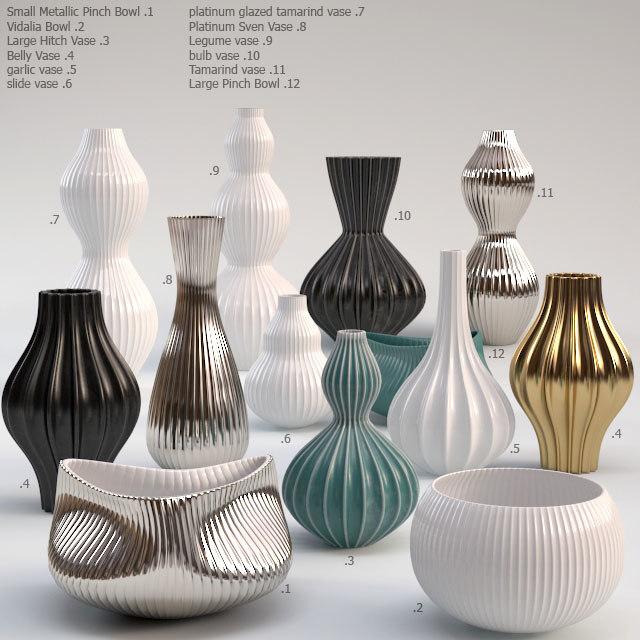 Fantastisk jonathan adler vase 3d model BW-07