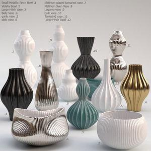 jonathan adler vase 3d model