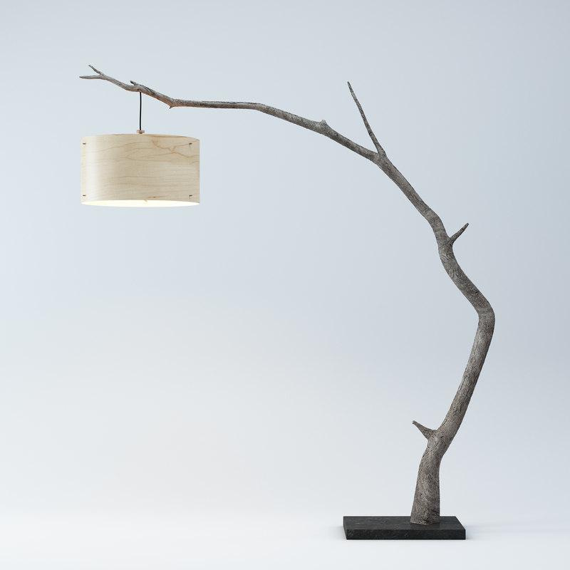 3d model wooden arc floor lamp aloadofball Gallery