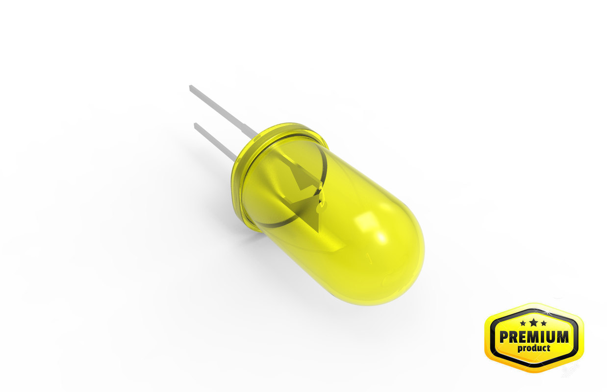 yellow led lamp 3d model