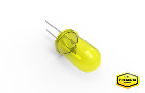 yellow led lamp 3d model