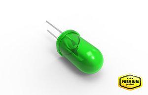max led green lamp