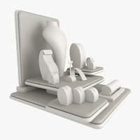 3d model jewels display