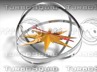 Futuristic compass