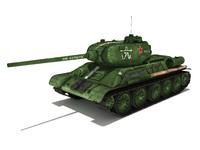 3d model t-34-85 tanks soviet