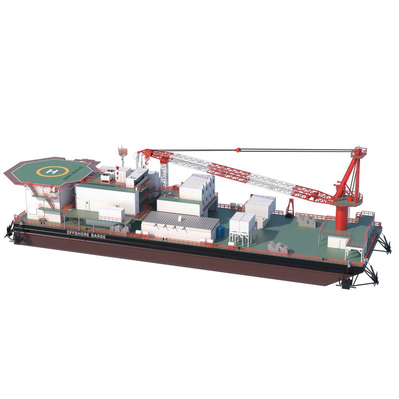 3d offshore barge model
