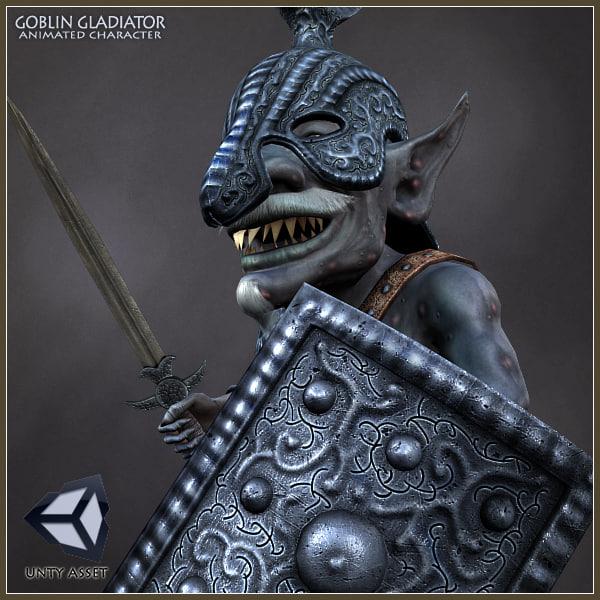 goblin gladiator character animations max