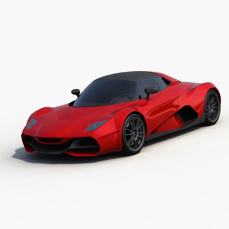 supercar stratos 3d model