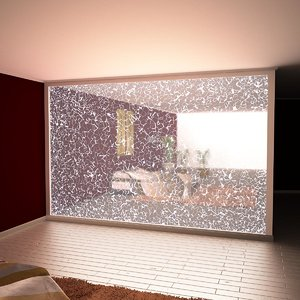 broken glass wall light