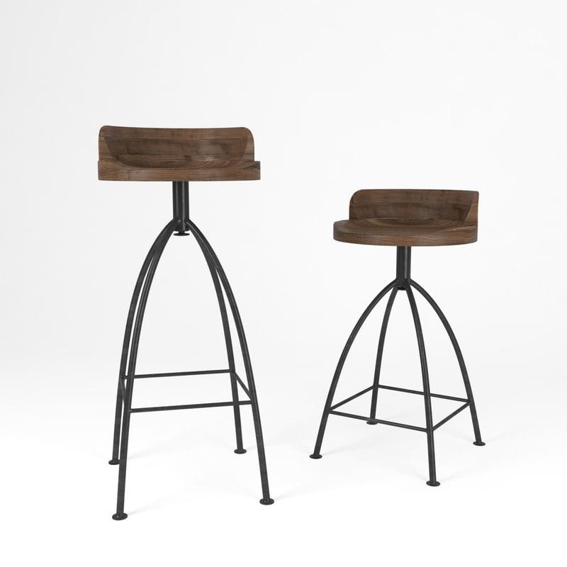 3d model arteriors stool bar