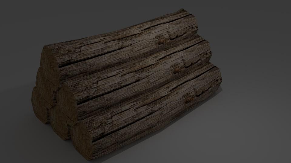 3d model tree logs