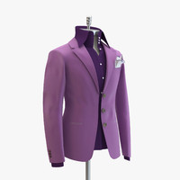 3d model women purple suit domenico