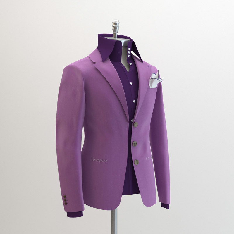 3d model women purple suit domenico
