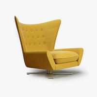 3d vioski louis chair