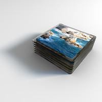 set glass coasters photo 3d x