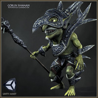 goblin shaman character animations 3d model