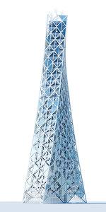 3d contemporary skyscraper model