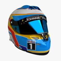 Fernando Alonso 2015 F1 Schuberth Helmet