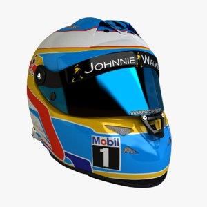 3ds max schuberth f1 helmet fernando