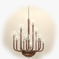 chandelier preciosa satriani carmine 3d model