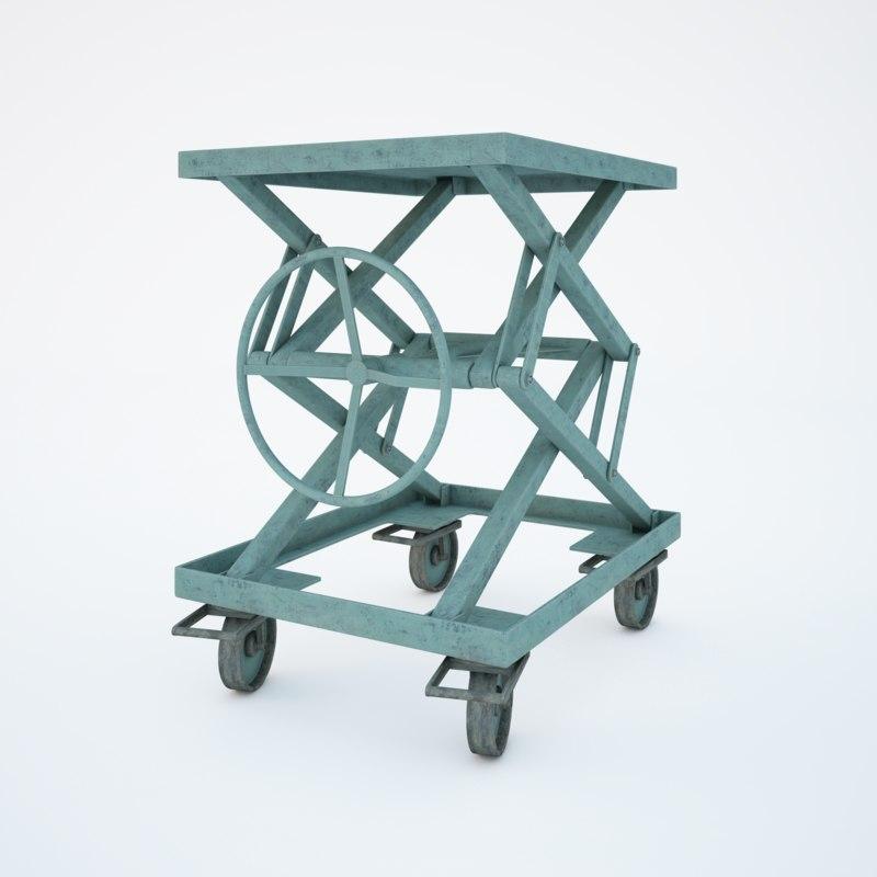 3d old mechanical jack model