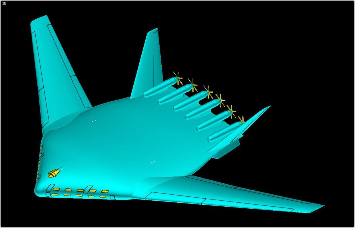 tu-404 mega transport solid 3d model