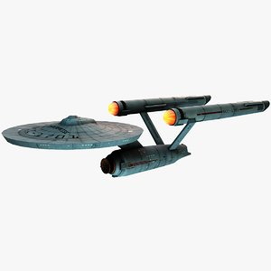 starship enterprise star trek 3d model