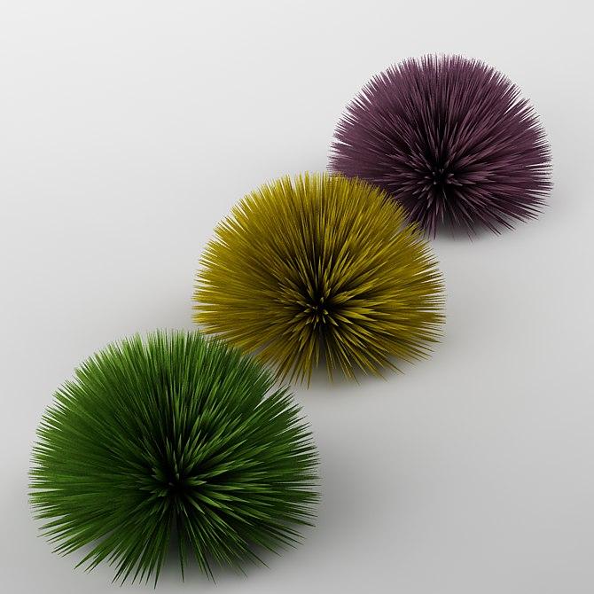 bush hedge hedgehog 3d model
