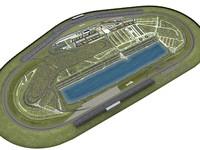 3ds max daytona track race speedway