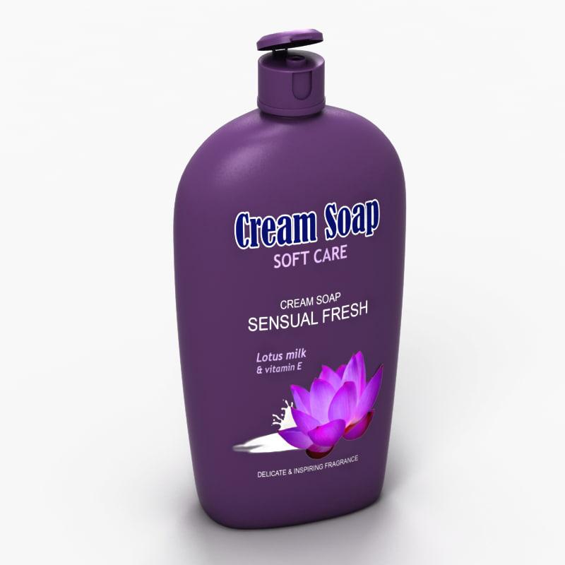 cream soap 3d model